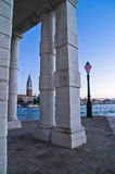 Sunrise in Venice at Grand Canal near piazza San Marco Stock Image