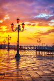 Sunrise in Venice. Piazza San Marco at sunrise, Vinice, Italy Royalty Free Stock Photo