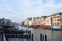 Sunrise in Venice, Rialto bridge royalty free stock images