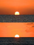Sunrise versus Sunset Stock Images