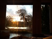 Sunrise view at Bali Island skies. Sunrise view bali island skies Stock Photography