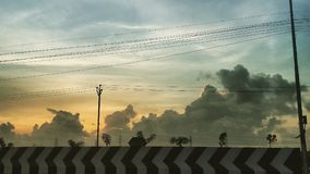 Sunrise view. In Chennai fresh morning Royalty Free Stock Images
