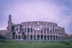 Colosseum Rome. Sunrise view of the Colosseum or Coliseum, a roman amphitheatre in the centre of Rome, Italy Stock Photography