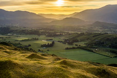 Sunrise view from Coronet Peat Royalty Free Stock Images