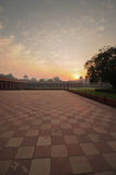 Sunrise view from courtyard of Taj Mahal complex Stock Photo
