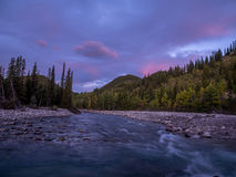 Sunrise view of elbow river Royalty Free Stock Images