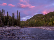 Sunrise view of elbow river Royalty Free Stock Photography