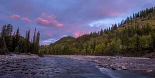 Sunrise view of elbow river Royalty Free Stock Photos