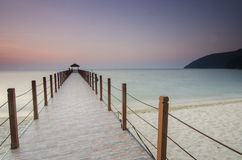 Sunrise view at fisherman jetty Royalty Free Stock Photos