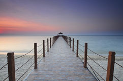 Sunrise view at fisherman jetty Stock Image