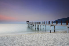 Sunrise view at fisherman jetty Stock Photo