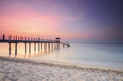Sunrise view at fisherman jetty Royalty Free Stock Photography