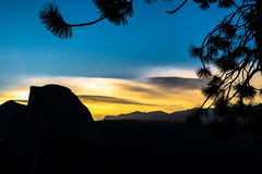 Sunrise view from Glacier Point Royalty Free Stock Photography