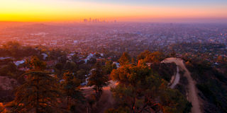 Sunrise view from Griffith Observatory Royalty Free Stock Images
