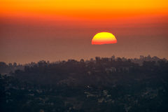 Sunrise view from Griffith Observatory Stock Image