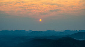 Sunrise view on hilltop Stock Photography
