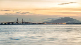Sunrise view from Jerajak Jetty, Penang. Beautiful landscape series of sunrise and sunset collection from George Town, Penang, Malaysia Stock Photo