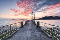 Sunrise view from Jerajak Jetty, Penang. Beautiful landscape series of sunrise and sunset collection from George Town, Penang, Malaysia Stock Photos