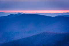 Sunrise view of layers of the Blue Ridge from Blackrock Summit, Stock Photos