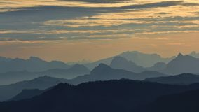 Sunrise view from mount Rigi, Switzerland Stock Images