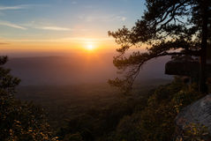 Sunrise view from mountain in Thailand Royalty Free Stock Photography