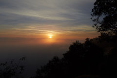 Sunrise view from mountain in Thailand Stock Images