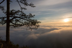 Sunrise view from mountain in Thailand Royalty Free Stock Images