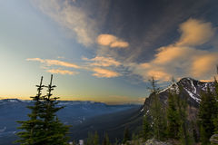 Sunrise View in the Mountains of Banff Royalty Free Stock Photography