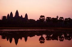 Sunrise view over Angkor Wat temple Stock Image