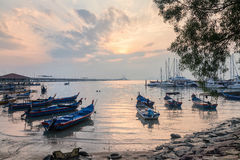 Sunrise view of Penang Bridge. Beautiful landscape series of sunrise and sunset collection from George Town, Penang, Malaysia Stock Image