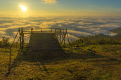 Sunrise view point , doi angkhang Stock Images