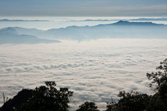 Sunrise view point from Doi Chiang Dao mountain Stock Photo