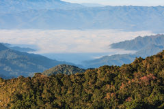 Sunrise view point from Doi Chiang Dao mountain Stock Images