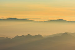 Sunrise view point from Doi Chiang Dao mountain Stock Photos