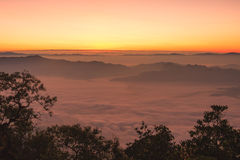 Sunrise view point from Doi Chiang Dao mountain. Chiang mai, Thailand Stock Photo