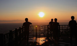 Sunrise. View point on mountain, chiangmai Thailand Stock Photo
