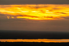 Sunrise View point from Phurungka National Prak. Nakornpanom, Thailand royalty free stock photo