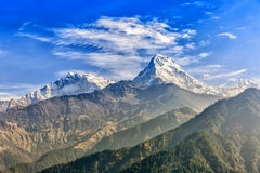 Sunrise view from Poon hill. Beautiful landscape photo of mountains from Poon hill royalty free stock photos