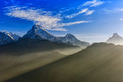 Sunrise view from Poon hill royalty free stock photos