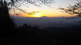 Sunrise view of Portland Royalty Free Stock Photography