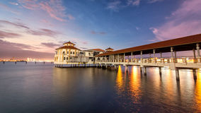 Sunrise view of QEII Jetty in George Town, Penang. Beautiful landscape series of sunrise and sunset collection from George Town, Penang, Malaysia Stock Photography