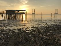 Sunrise view. At sea Royalty Free Stock Photography