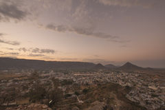 Sunrise View from top of Savitri Temple Royalty Free Stock Photography