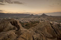 Sunrise View from top of Savitri Temple Royalty Free Stock Photos