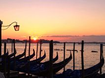 Venice at dawn stock photography