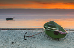 Sunrise at a village of fishermen, Kurzeme, Latvia Stock Photo
