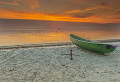 Sunrise at a village of fishermen, Kurzeme, Latvia Stock Photography