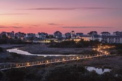 Sunrise Village of Hatteras North Carolina Royalty Free Stock Photos