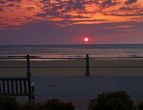 Sunrise at Virginia Beach stock image