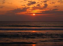 Sunrise at Virginia Beach Royalty Free Stock Photography
